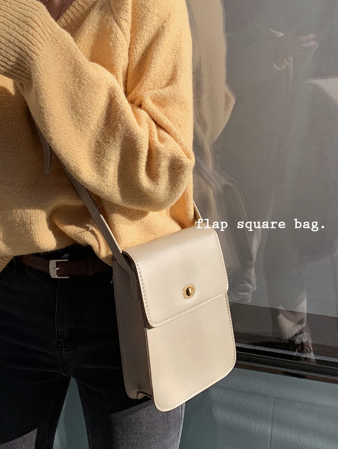 vintage sqaure bag - 2 color