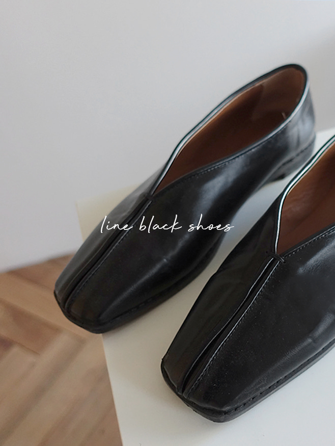 line black flat - shoes
